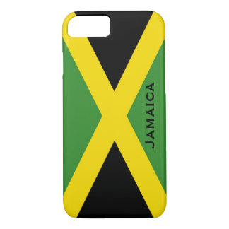Jamaikanisches Flaggen-Schwarz-Grün-Gelb Jamaika iPhone 8/7 Hülle