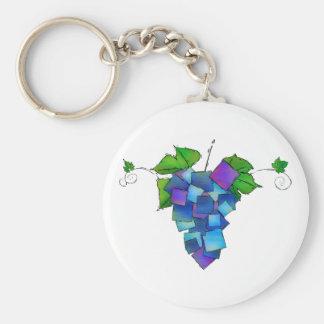 Jamurissa - quadratische Trauben Schlüsselanhänger