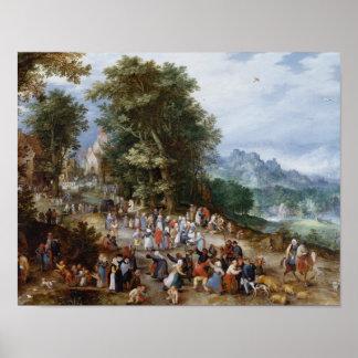 Jan Brueghel das Älteste - flämische Messe Poster