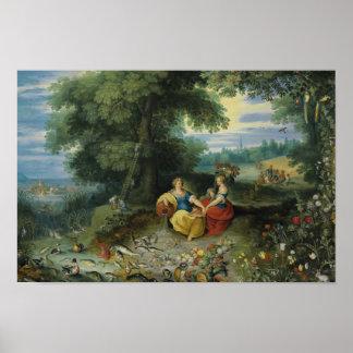 Jan Brueghel das jüngere - eine Allegorie des Poster