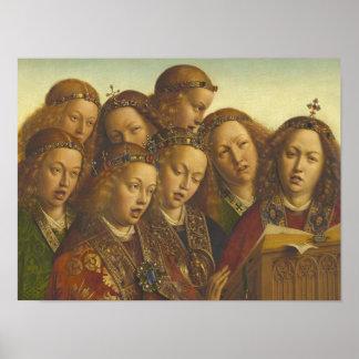 Jan van Eyck, der Engel Gent CC0062 singt Poster