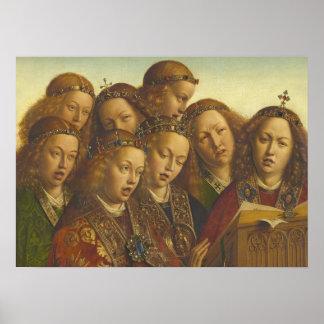 Jan van Eyck, der Engel Gent CC0184 singt Poster