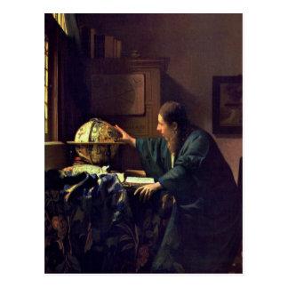 Jan. Vermeer, die Astronomen-Postkarte Postkarte