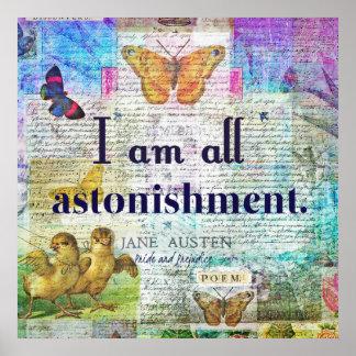 Jane Austen-Stolz und Vorurteil-Zitat Poster