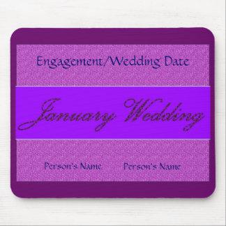 Januar-Hochzeit Mousepad - kundengerecht