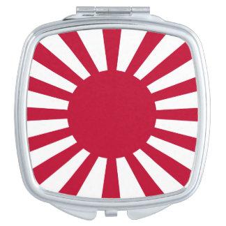Japan-aufgehende Sonne-Flagge Taschenspiegel