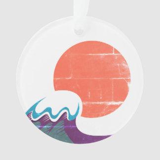 Japan-Sonne mit Welle/Acryl Ornament