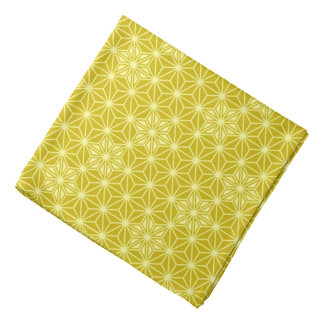 Japaner Asanoha Muster - Senfgold Kopftuch