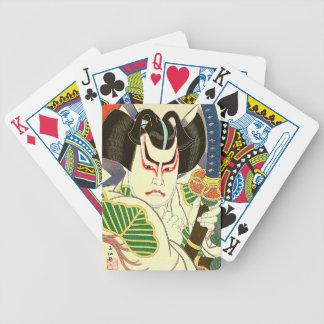Japaner Kabuki Schauspieler-Kunst durch Natori Bicycle Spielkarten