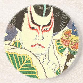 Japaner Kabuki Schauspieler-Kunst durch Natori Untersetzer