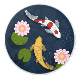 Japaner Koi Fisch-Teich Keramikknauf