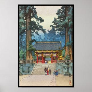 Japaner-schöne Kunst Toshogu Schrein-Hiroshi Poster