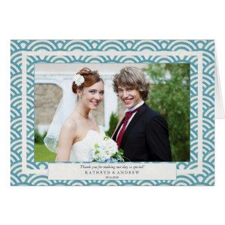 Japaner Seigaiha Hochzeit danken Karte