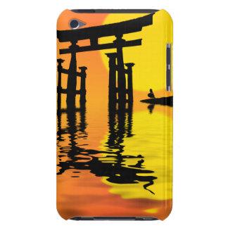 Japaner Torii (Tor) Sonnenuntergangzeichnen iPod Touch Etuis