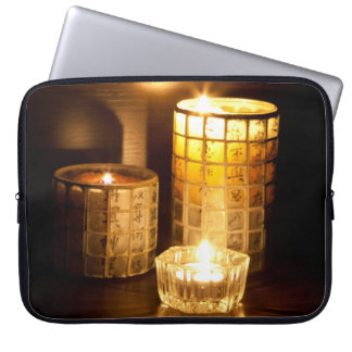 Japanese candles laptop sleeve