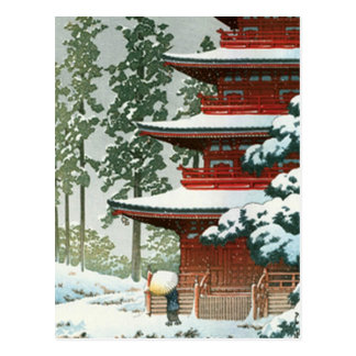 Japanese Woodlock Postkarte