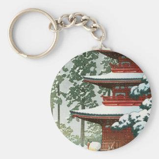 Japanese Woodlock Schlüsselanhänger