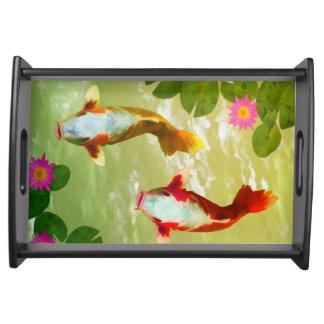 Japanische Fische Tabletts