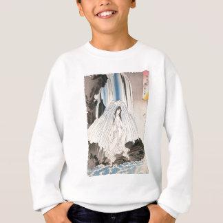 Japanische Frau im Wasserfall, alte japanische Sweatshirt