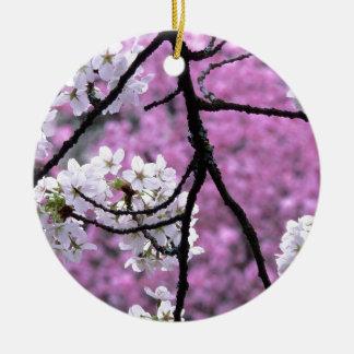 Japanische Kirschblüten Rundes Keramik Ornament