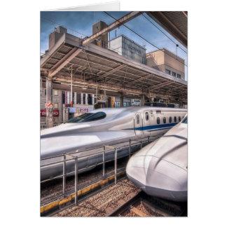 Japanische Kugel-Züge an Tokyo-Station Karte