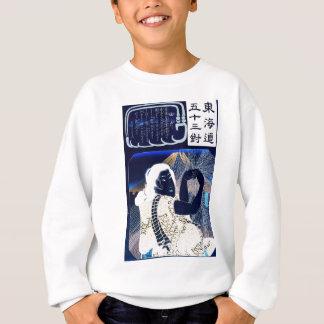 Japanische Malerei der Frau und des Fujisans C. Sweatshirt