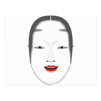Japanische Maske Postkarte