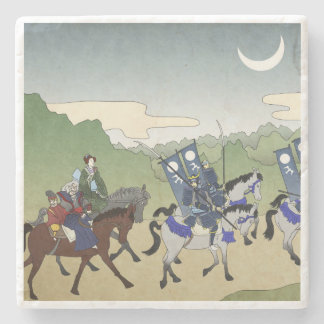 Japanische Reiter Steinuntersetzer