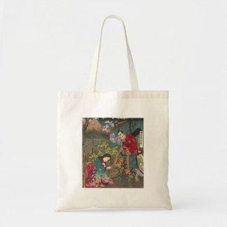 Japanische schöne Geisha-Samurai-Kunst Tragetasche