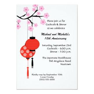 Japanische themenorientierte Jahrestags-Einladung Karte