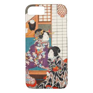 Japanische Vintage Schönheit Geisha-Damenfrau iPhone 7 Hülle