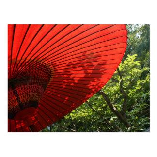 Japanischer Sonnenschirm Postkarte