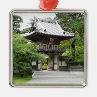 Japanischer Tee-Garten in San Francisco Silbernes Ornament