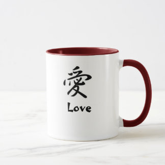 Japanisches Kanji: Liebe Tasse