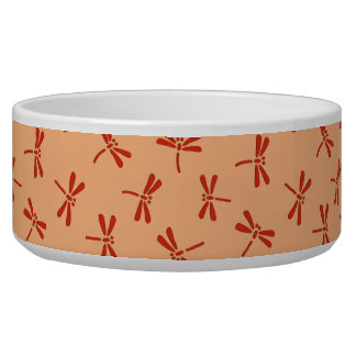 Japanisches Libellen-Muster, Pastellorange Napf