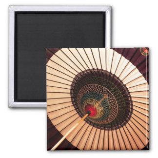Japanisches Papier-Sonnenschirm-Quadrat-Magnet Quadratischer Magnet