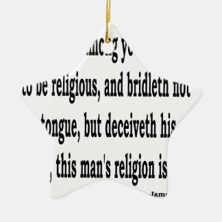 Jas. 1:26, w keramik Stern-Ornament