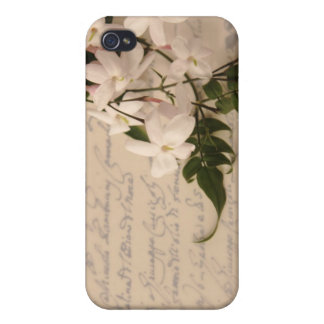 Jasmin auf altem Skripthandschrift iphone Fall Hülle Fürs iPhone 4