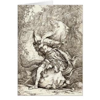 Jason und der Drache (Radierung des 17. Grußkarte