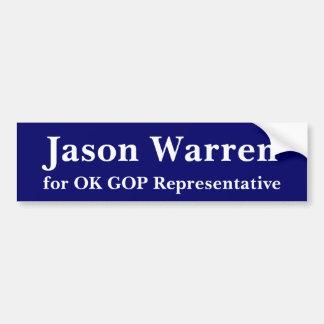 Jason Waren für OKAYGOP Autoaufkleber