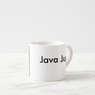 Java-Krug Schwarzweiss Espresso-Tassen