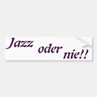 jazz oder nie autosticker