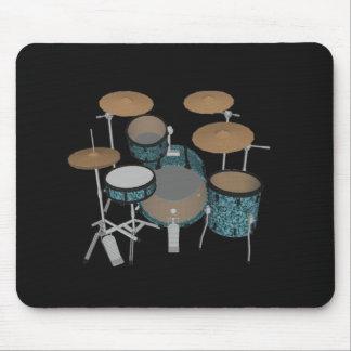 Jazz-Trommel-Ausrüstung: Kundenspezifische grüne Mousepad
