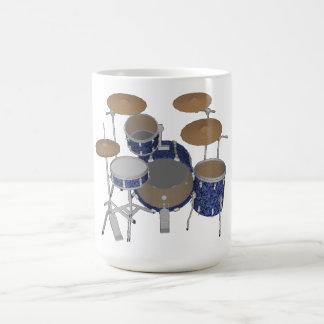 Jazz-Trommel-Ausrüstung - kundenspezifisches Blau Kaffeetasse