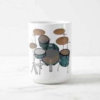 Jazz-Trommel-Ausrüstung: Kundenspezifisches Grün Kaffeetasse