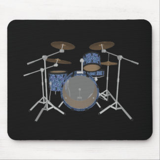 Jazz-Trommel-Set - kundenspezifische blaue Mousepad