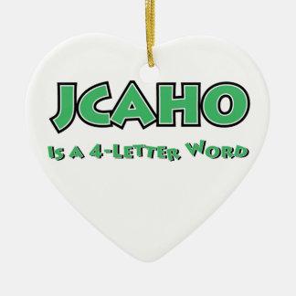 JCAHO ist ein Wort 4-Letter Keramik Ornament
