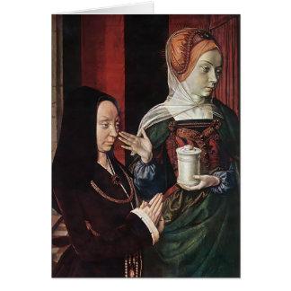 Jean he Madeleine vom Burgund stellte sich dar Grußkarten