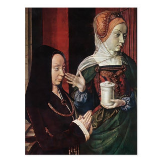 Jean he Madeleine vom Burgund stellte sich dar Postkarte