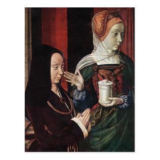Jean he Madeleine vom Burgund stellte sich dar Postkarten